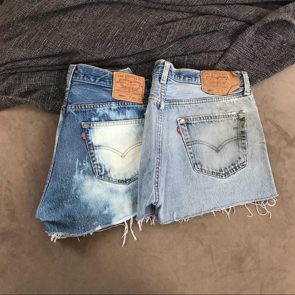 "Levi's 501 denim shorts bundle 35/36"""